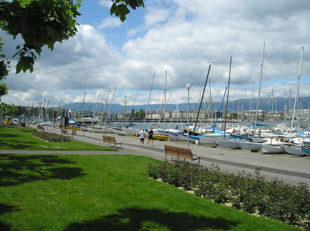 Lakeside Promenade in Geneva Switzerland