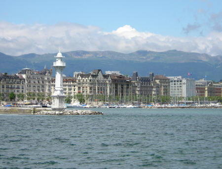Quai Wilson and Jetee des Paquis, Geneva Switzerland